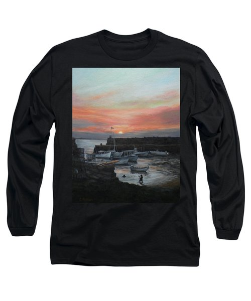 Lanes Cove Sunset Long Sleeve T-Shirt by Eileen Patten Oliver