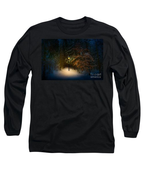 Long Sleeve T-Shirt featuring the photograph Lantern In The Wood by Michael Arend