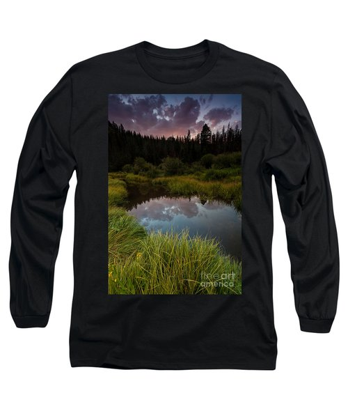 Laramie River Sunset Long Sleeve T-Shirt