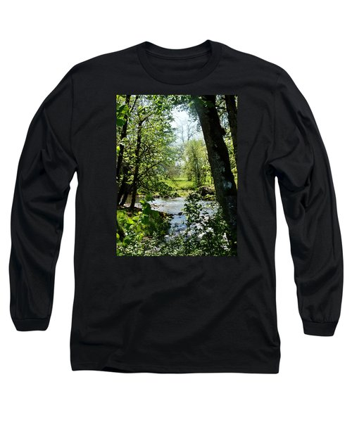 Long Sleeve T-Shirt featuring the photograph Larwood Stream by VLee Watson