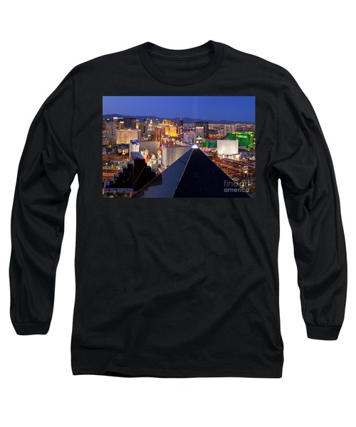 Las Vegas Skyline Long Sleeve T-Shirt
