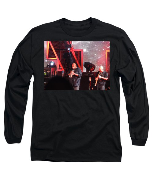 Long Sleeve T-Shirt featuring the photograph Lashawn Ross And Jeff Coffen by Aaron Martens