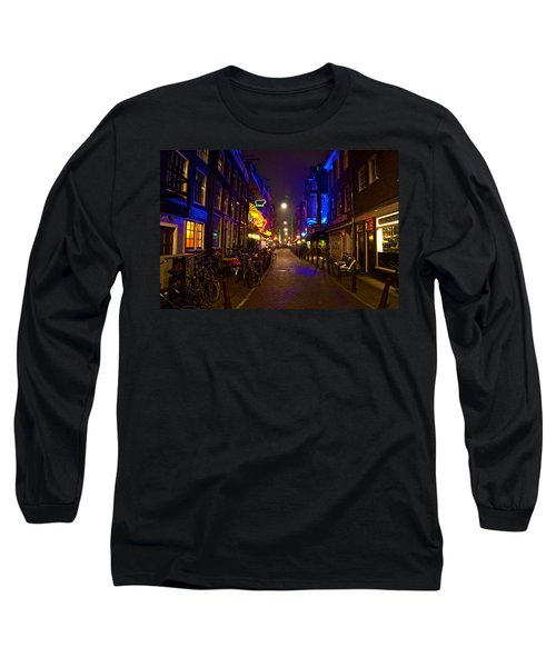 Late Night Neon  Long Sleeve T-Shirt by Jonah  Anderson
