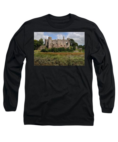Laugharne Castle Long Sleeve T-Shirt by Jeremy Voisey