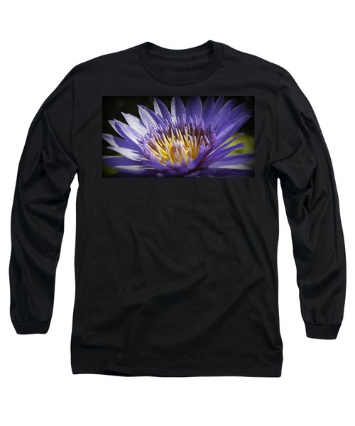 Long Sleeve T-Shirt featuring the photograph Lavendar Lily by Laurie Perry