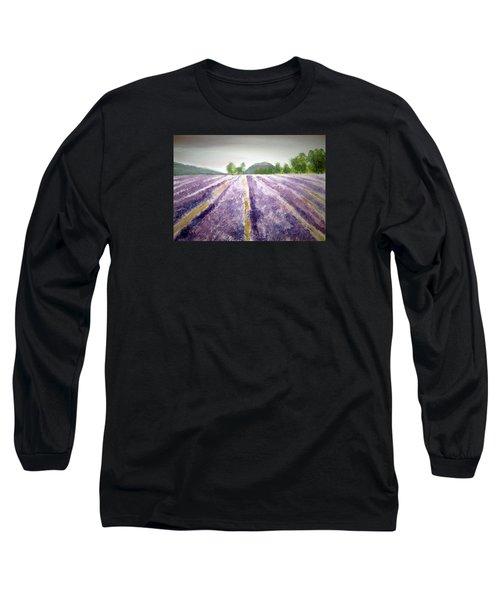Lavender Fields Tasmania Long Sleeve T-Shirt by Elvira Ingram