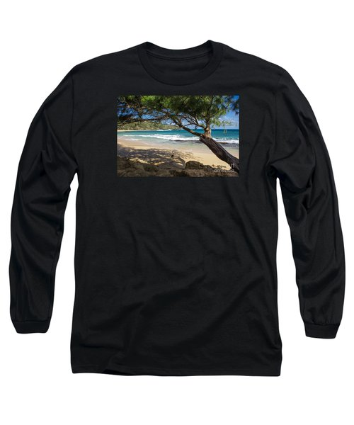 Long Sleeve T-Shirt featuring the photograph Lazy Day At The Beach by Suzanne Luft