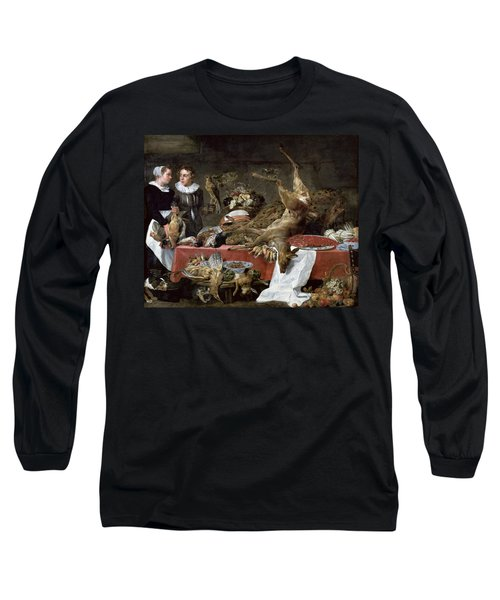 Le Cellier Oil On Canvas Long Sleeve T-Shirt by Frans Snyders or Snijders