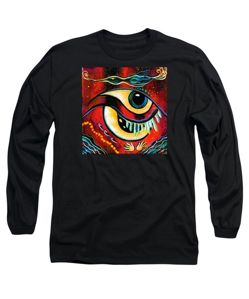 Long Sleeve T-Shirt featuring the painting Leadership Spirit Eye by Deborha Kerr