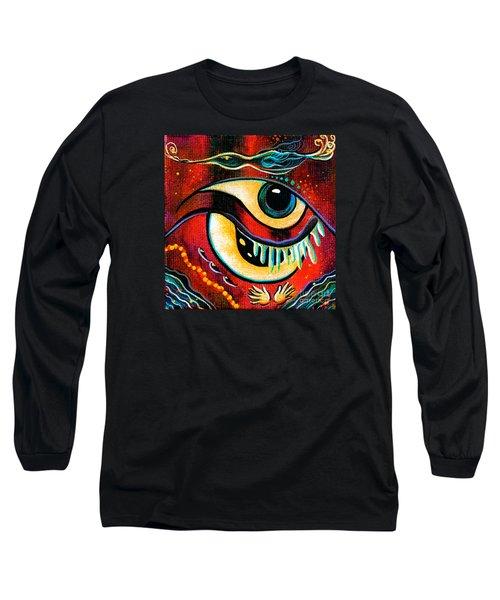 Leadership Spirit Eye Long Sleeve T-Shirt by Deborha Kerr