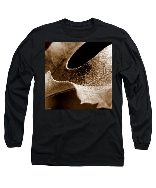 Long Sleeve T-Shirt featuring the photograph Leaf Collage 3 by Lauren Radke