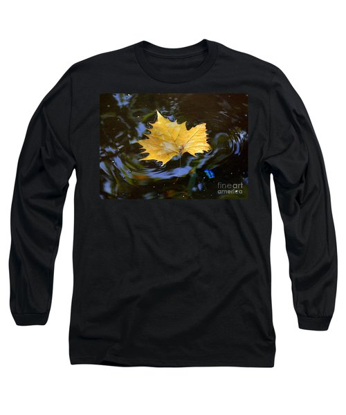Leaf In Pond Long Sleeve T-Shirt