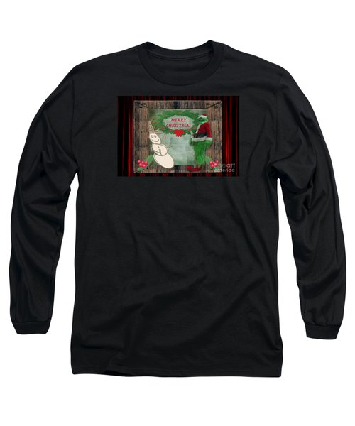 Long Sleeve T-Shirt featuring the photograph Leaning Into Christmas by Donna Brown