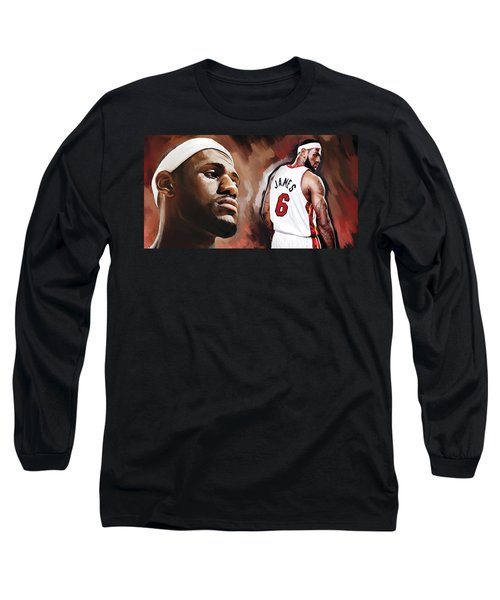 Lebron James Artwork 2 Long Sleeve T-Shirt