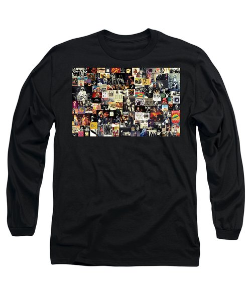 Led Zeppelin Collage Long Sleeve T-Shirt by Taylan Apukovska
