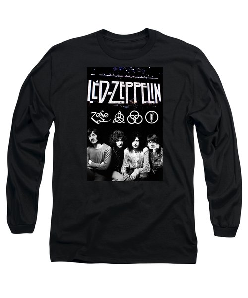 Led Zeppelin Long Sleeve T-Shirt by FHT Designs