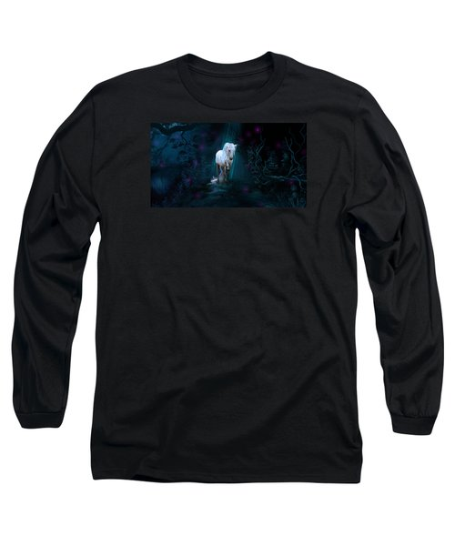 Left Alone Long Sleeve T-Shirt by Kate Black