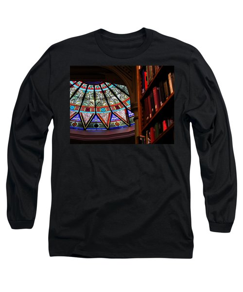 Lehigh University Linderman Library Books Long Sleeve T-Shirt by Jacqueline M Lewis