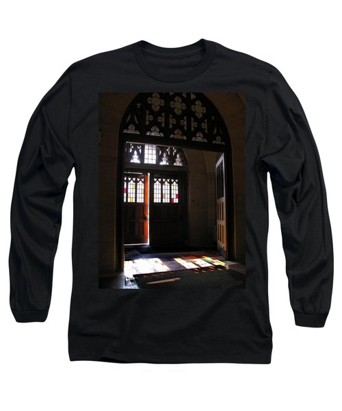 Lehigh University Linderman Library Entrance Long Sleeve T-Shirt by Jacqueline M Lewis