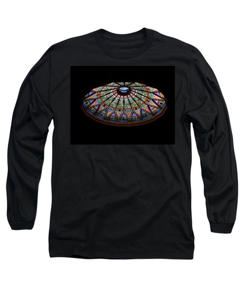 Lehigh University Linderman Library Rotunda Window Long Sleeve T-Shirt by Jacqueline M Lewis