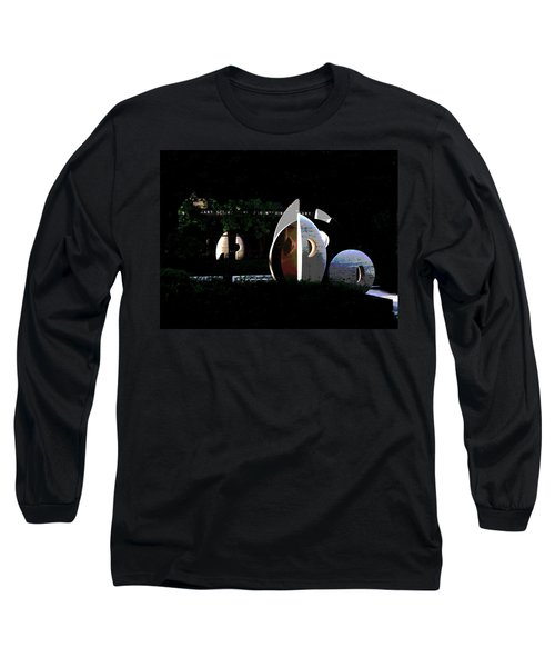 Abstract Of Lehigh University Mart Science And Engineering Library Long Sleeve T-Shirt by Jacqueline M Lewis