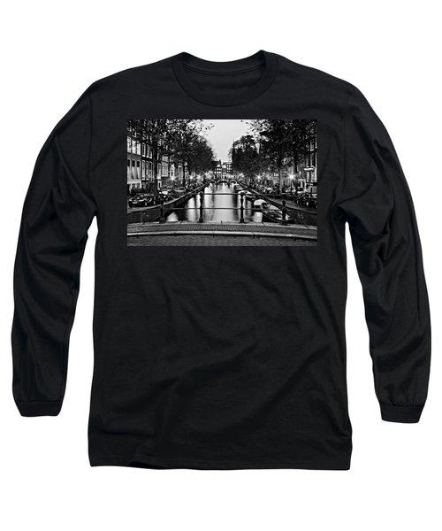 Leidsegracht Canal At Night / Amsterdam Long Sleeve T-Shirt