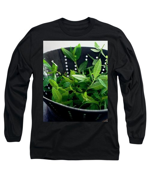 Lemon Verbena Herbs Long Sleeve T-Shirt