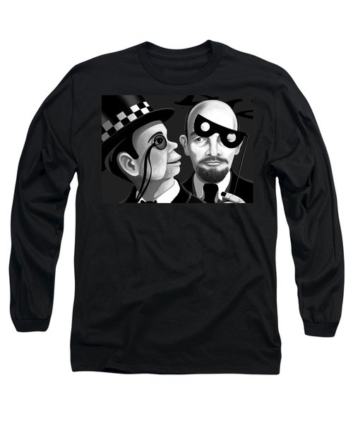 Long Sleeve T-Shirt featuring the digital art Lenin And Mccarthy   by Tom Dickson