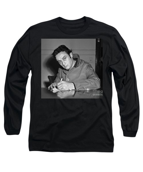 Long Sleeve T-Shirt featuring the photograph Lenny Bruce 1963 by Martin Konopacki Restoration