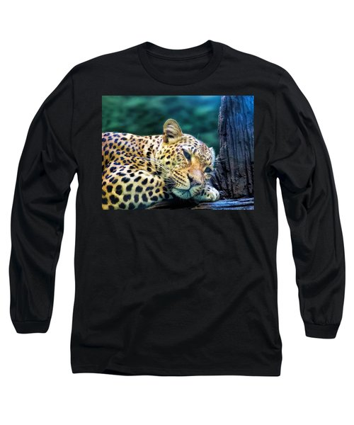 Long Sleeve T-Shirt featuring the photograph Leopard 1 by Dawn Eshelman