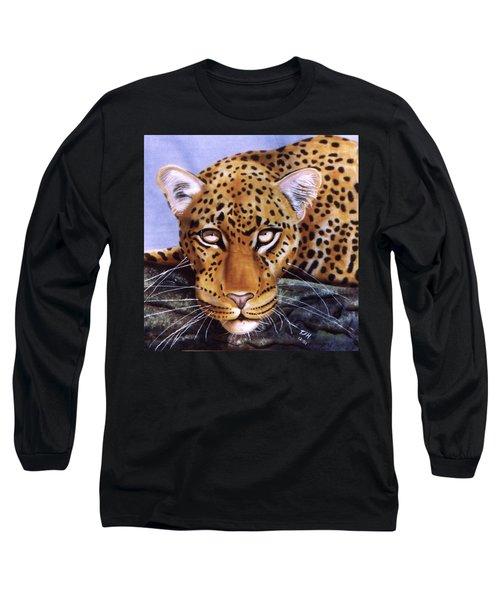 Leopard In A Tree Long Sleeve T-Shirt