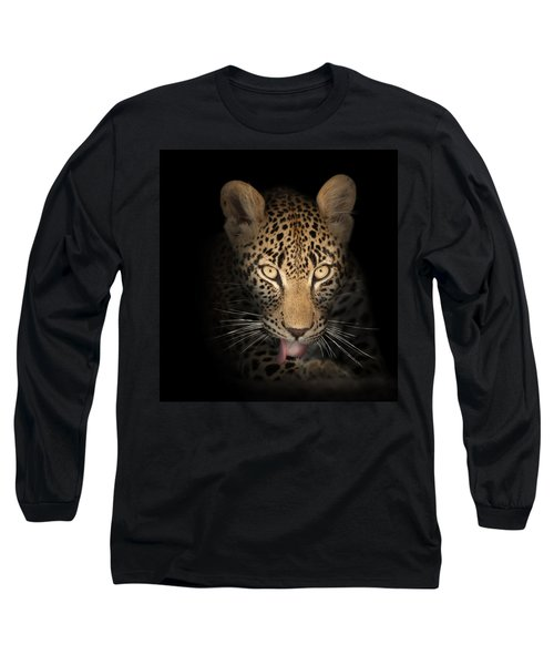 Leopard In The Dark Long Sleeve T-Shirt