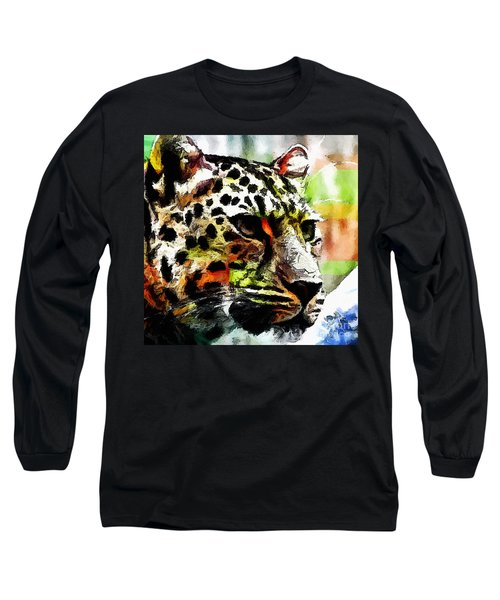 Leopard - Leopardo Long Sleeve T-Shirt by Zedi