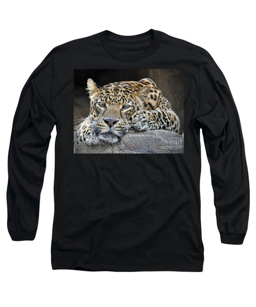Long Sleeve T-Shirt featuring the photograph Leopard by Savannah Gibbs