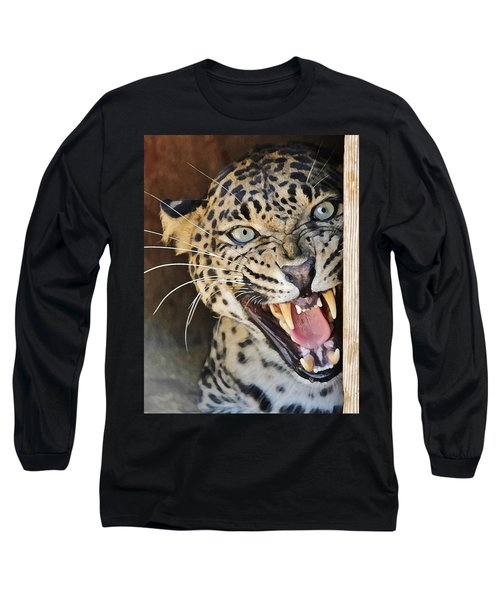 Leopard Snarling Long Sleeve T-Shirt