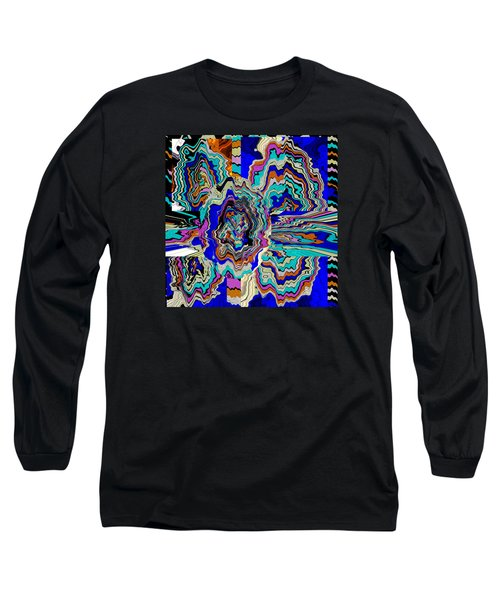 Original Abstract Art Painting Let Life Bloom Long Sleeve T-Shirt by RjFxx at beautifullart com