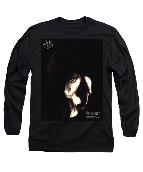 Let The Darkness Take Me Long Sleeve T-Shirt by Vicki Spindler