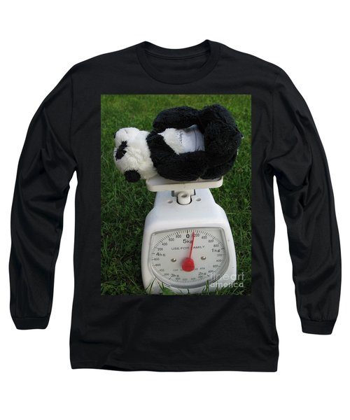 Long Sleeve T-Shirt featuring the photograph Let's Check My Weight Now by Ausra Huntington nee Paulauskaite