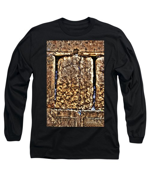 Long Sleeve T-Shirt featuring the photograph Letters In The Wailing Wall by Doc Braham