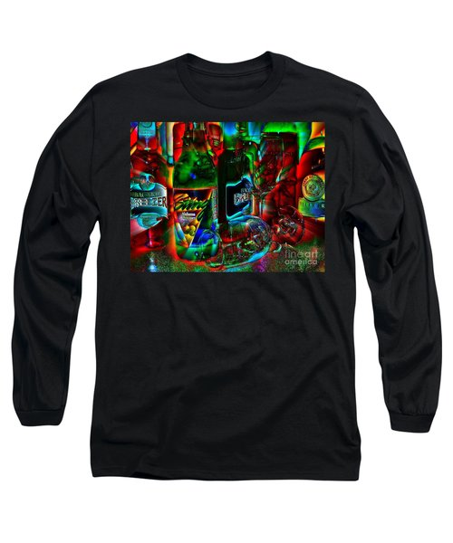 Libations Long Sleeve T-Shirt by Linda Bianic