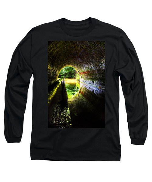 Light At The End Of The Tunnel Long Sleeve T-Shirt by Meirion Matthias