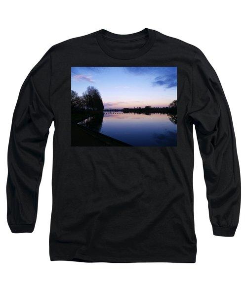 Long Sleeve T-Shirt featuring the pyrography Light Fall by Luc Van de Steeg