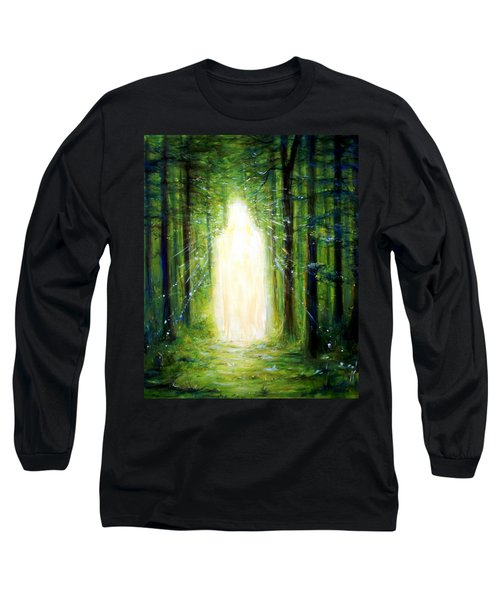 Long Sleeve T-Shirt featuring the painting Light In The Garden by Heather Calderon