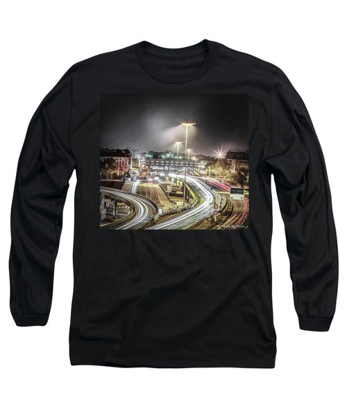 Long Sleeve T-Shirt featuring the photograph Light Moves by Stwayne Keubrick