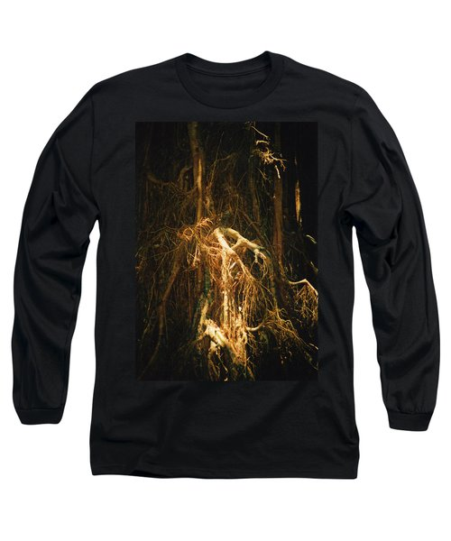 Long Sleeve T-Shirt featuring the photograph Light Roots by Evelyn Tambour