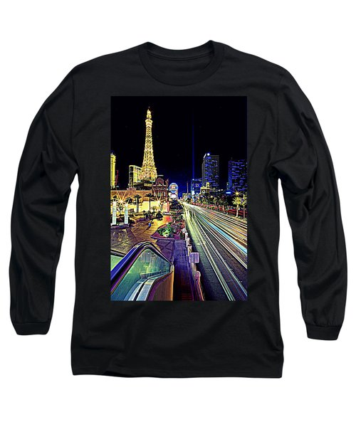 Light Speed Vegas Long Sleeve T-Shirt by Matt Helm