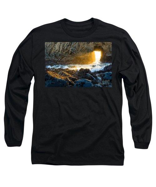 Light The Way - Arch Rock In Pfeiffer Beach In Big Sur. Long Sleeve T-Shirt