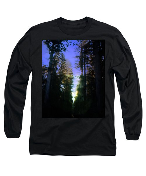 Long Sleeve T-Shirt featuring the digital art Light Through The Forest by Cathy Anderson