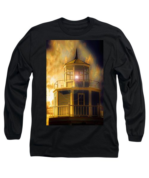 Long Sleeve T-Shirt featuring the mixed media Lighthouse  by Aaron Berg