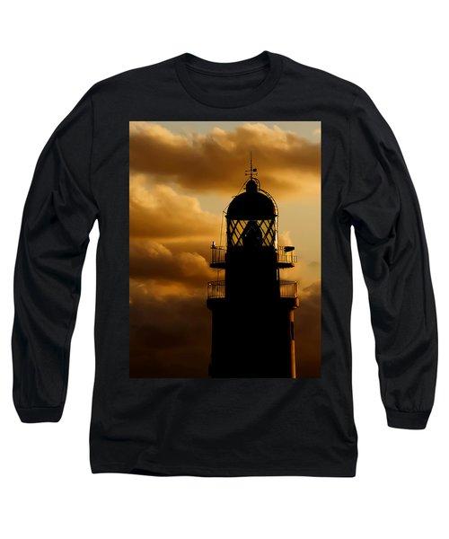 lighthouse dawn in the north coast of Menorca Long Sleeve T-Shirt by Pedro Cardona